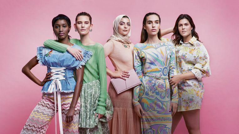 Van links naar rechts: Odette O'Hara, Caroline Davis, Sarah Dimani, Maxim Magnus en Charlotte De Lange