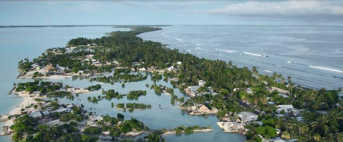 Kiribati: nog altijd vrij van het coronavirus maar door klimaatverandering verdwijnt het land wel langzaam in de Stille Oceaan