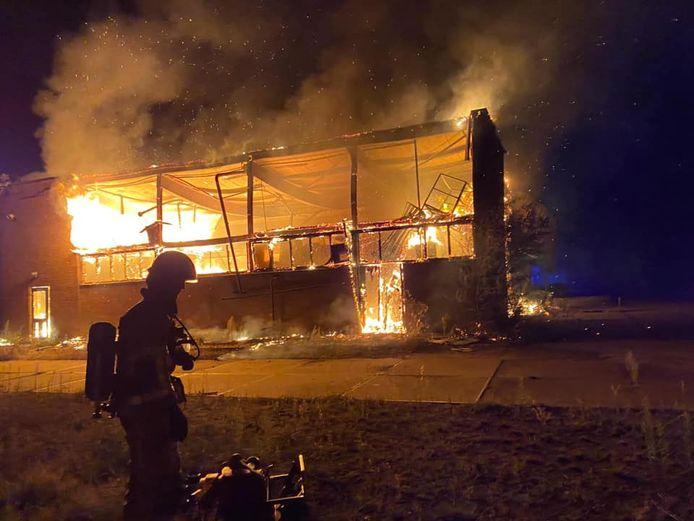 Uitslaande brand bij de ijzergieterij op 20 augustus 2020