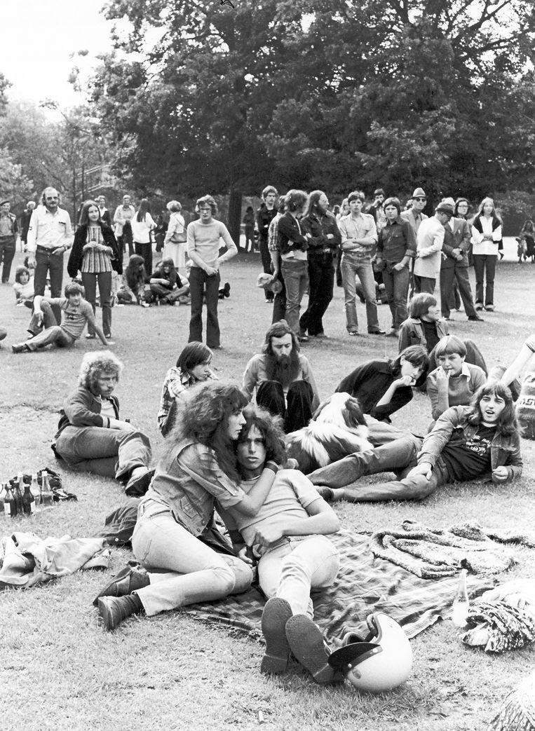 Woodstock in het stadspark in 1978.