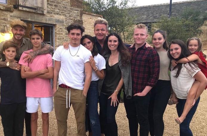 Victoria Beckham en haar familie