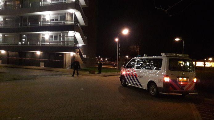 Schietpartij in Zwijndrecht. Politie doet onderzoek.