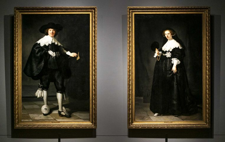 De schilderijen Marten en Oopjen van Rembrandt van Rijn. Beeld ANP