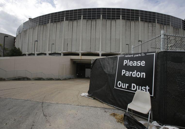 De Astrodome, gefotografeerd op de dag van het referendum. Beeld ap