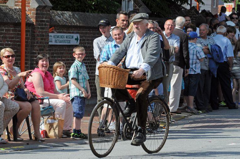 Nonkel Jef met de echte fiets