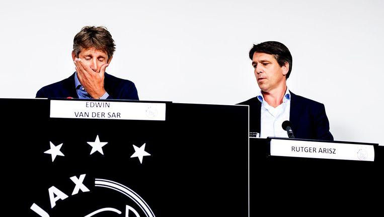 Algemeen directeur Edwin van der Sar en operationeel directeur Rutger Arisz Beeld anp
