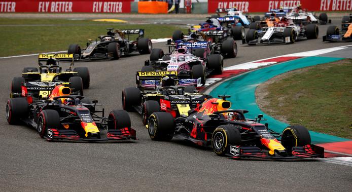 Max Verstappen tijdens de Grand Prix van China op 14 april 2019.