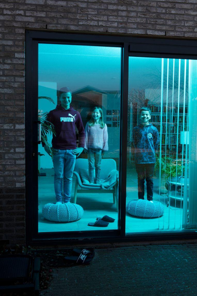 Ramsey, Zena en Sami   Beeld Jaap Scheeren