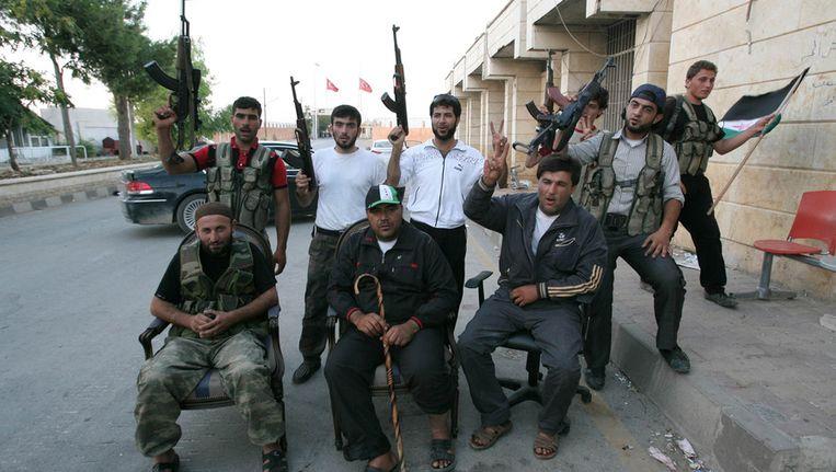 Syrische strijders van het Vrije Leger. Beeld afp