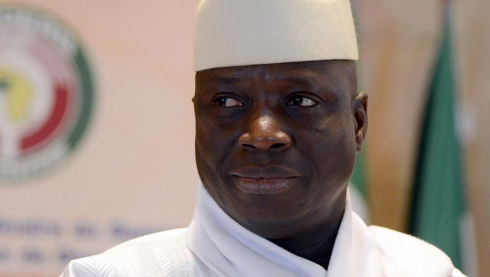 De Gambiaanse president Yahya Jammeh