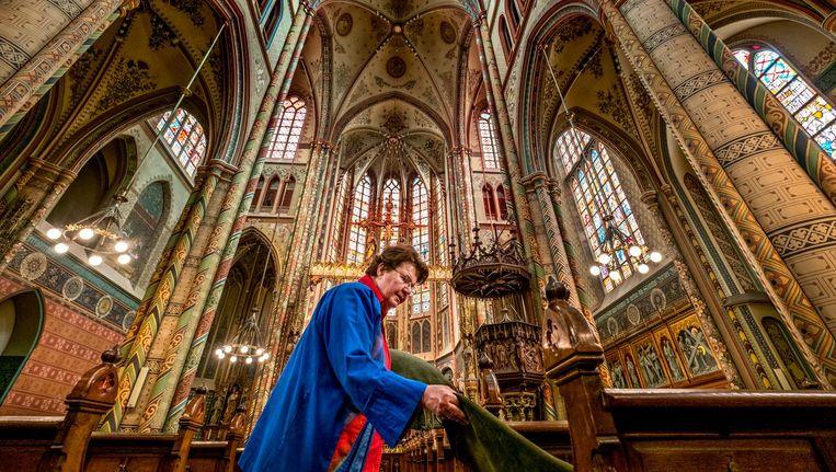 De Sint-Willibrordkerk in het centrum van Utrecht, binnenkort weer 'een heiligdom'. Beeld Raymond Rutting / de Volkskrant