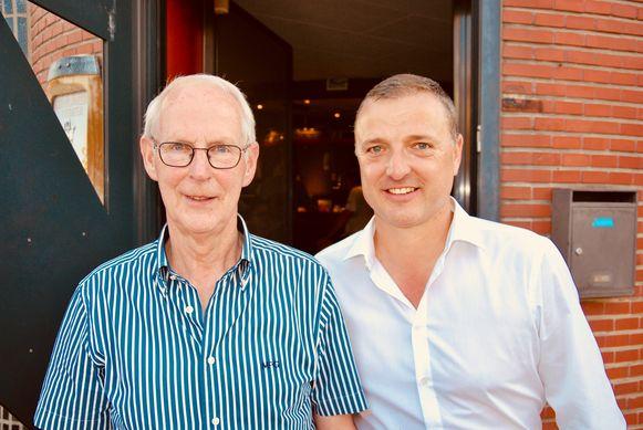 Vader Laurent en zoon Ives Serneels. De duivensport bracht hen in het Sportlokaal.