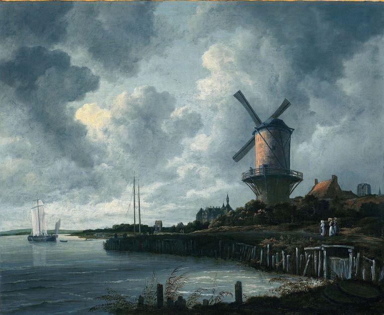 Windmolen bij Wijk bij Duurstede, Jacob van Ruisdael ca 1670 Beeld anp
