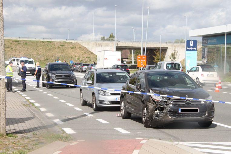 Drie voertuigen raakten bij het ongeval betrokken.