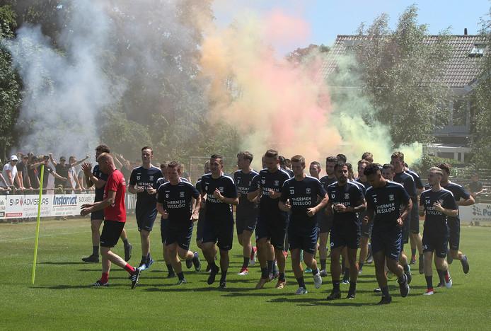 De eerste training van GA Eagles in 2018 in Terwolde.