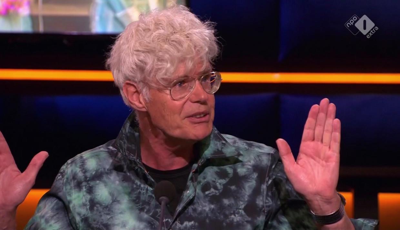 Ad Visser blikt in 'Op1' vooruit op 'Het beste van... 50 jaar Toppop'. Beeld