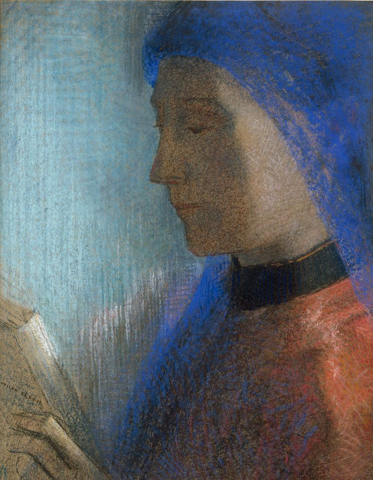 'Lezende vrouw', circa 1995-1900. Beeld Odilon Redon, Kröller-Müller Museum