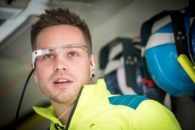 Een simulatie met de Google Glass voor ambulanceverpleegkundigen.