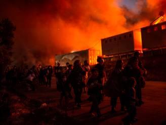 Griekse politie pakt vijf verdachten van verwoestende brand in vluchtelingenkamp Moria op