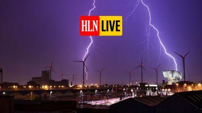 Zwaar onweer boven provincies Antwerpen en Waals-Brabant: bekijk hier waar het toeslaat