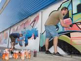 De graffiti-artiesten hebben 204 vierkante meter tot hun beschikking.