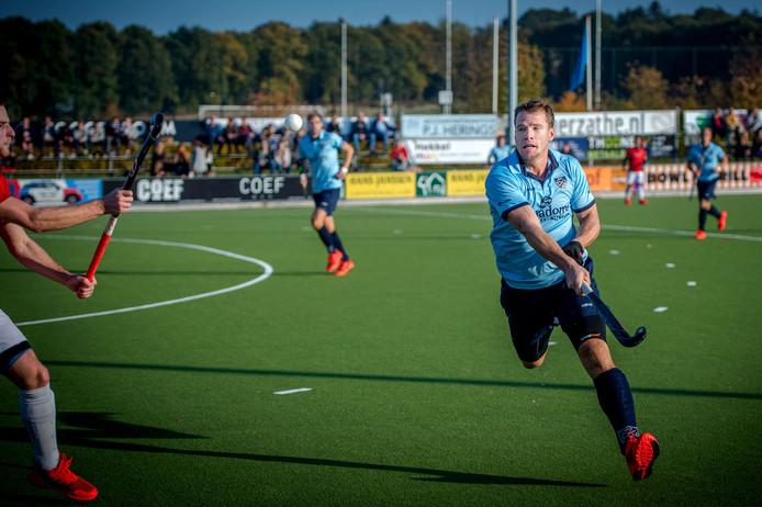 NMHC-verdediger Olaf Beks scoorde het enige doelpunt voor Nijmegen.