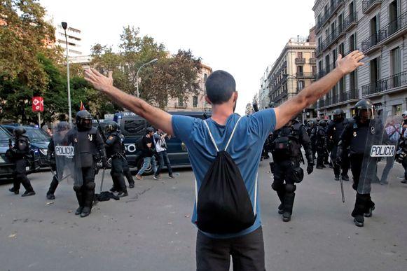 Archiefbeeld, tijdens de protesten in Catalonië zijn meer dan tweehonderd arrestaties verricht.