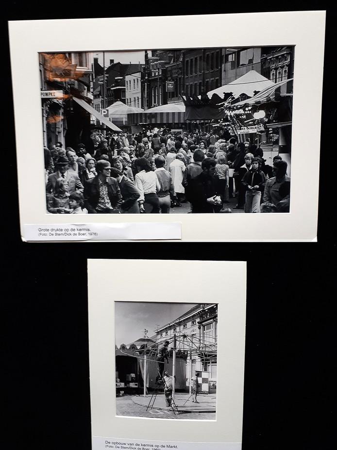 Herinneringen ophalen  met foto'sop de kermisexpo in Parrotia Roosendaal. Foto's Dick de Boer
