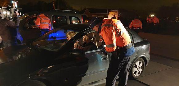De politie controleerde onder andere op de parking van Drankenhandel De Kievit in Heist.