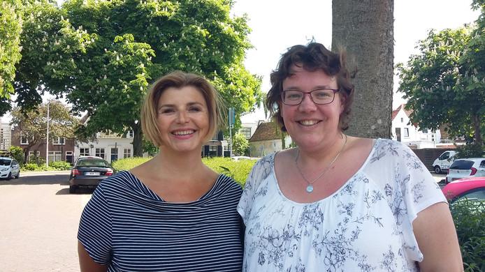 Links Marianne Gillot (coördinator Maatjesproject) en rechts Daniella Hädicke (coördinator Vriendschappelijk huisbezoek) van Humanitas.