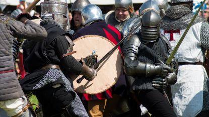 Ridder krijgt zwaard in oog