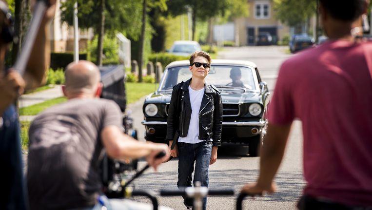 Acteur Thor Braun op de filmset van de nieuwe jeugdfilm 'De Boskampi's' Beeld anp