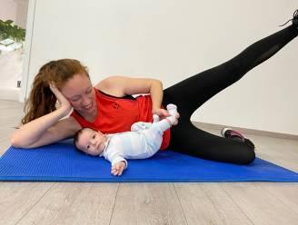 Fitnesscoach Charlotte laat mama's sporten met hun pasgeboren baby