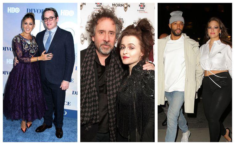 Sarah Jessica Parker en Matthew Broderick/Tim Burton en Helena Bonham Carter/Justin Ervin en Ashley Graham