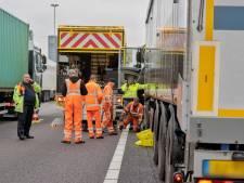 Verkeersruzie op A58 bij Goirle leidt tot aanrijding en diesel op de weg
