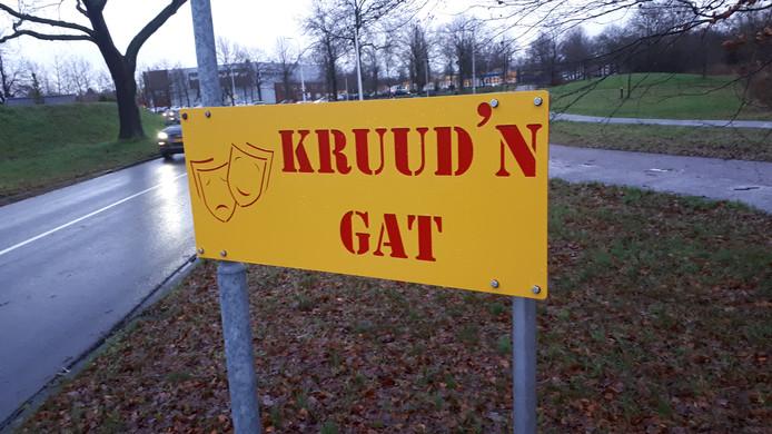 De Kruidenwijk werd eind vorige week al omgedoopt tot Kruud'n Gat.