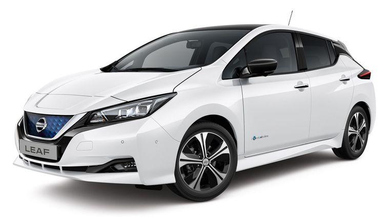 De overheid selecteerde vier elektrische wagens voor de groepsaankoop: hier de Nissan Leaf.