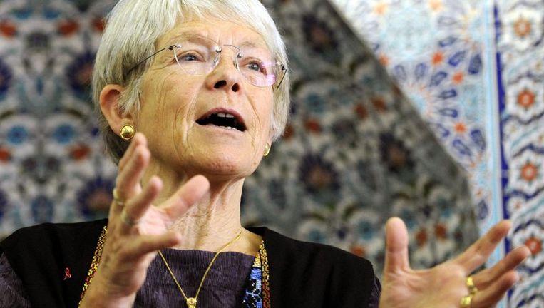 De 65-jarige bisschop Maria Jepsen was de eerste vrouwelijke lutherse bisschop in Duitsland toen ze in 1992 werd aangesteld.