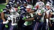 Patriots verslaan Seahawks in Super Bowl, die ontsierd wordt door vechtpartij