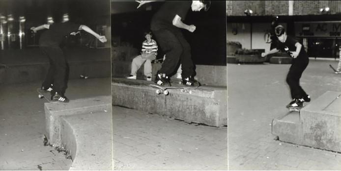 Het straatmeubilair van de Piazza leende zich uitstekend voor allerlei skatetricks.<br /><br />