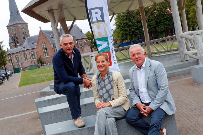 Vlnr Jack Spanbroek, Gisella Groenewoud en Hans van den Dungen van Meer Riethoven.