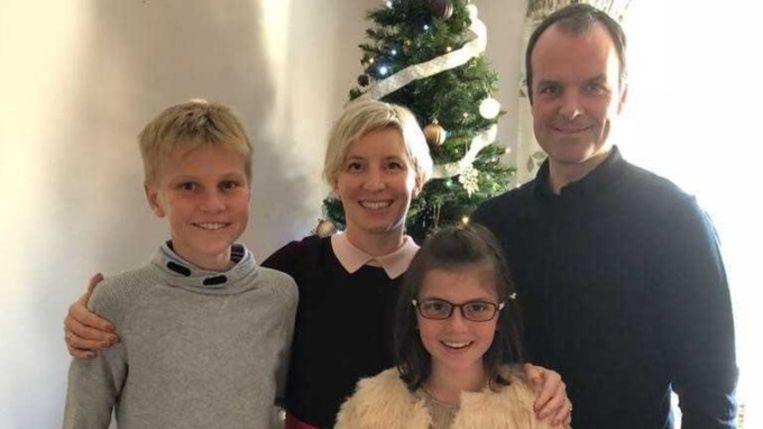 Ben Nicholson en zijn gezin. Hij is de enige die de aanslag overleefde.