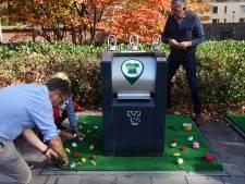 Zou het werken? Plastic bloemen en kunststof grasveldjes tegen Tilburgse afvaldumpers