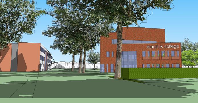 Een nieuw poortgebouw moet het Maurick College in Vught meer 'smoel' geven.