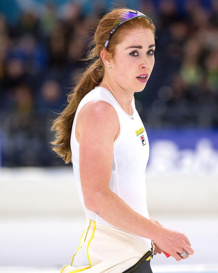 Antoinette de Jong won de 3.000 meter en werd tweede op de 1.000 meter. Beeld Klaas Jan van der Weij