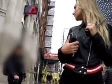 Vrouw filmt stiekem reacties van mannen tijdens wandeling op straat