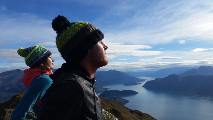 Een van de foto's van Alex Malone uit Goes en haar vriend Thijs van Gerwen die op de GoPro stonden.