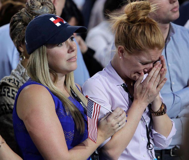 Supporters van Hillary Clinton in New York. Beeld ap