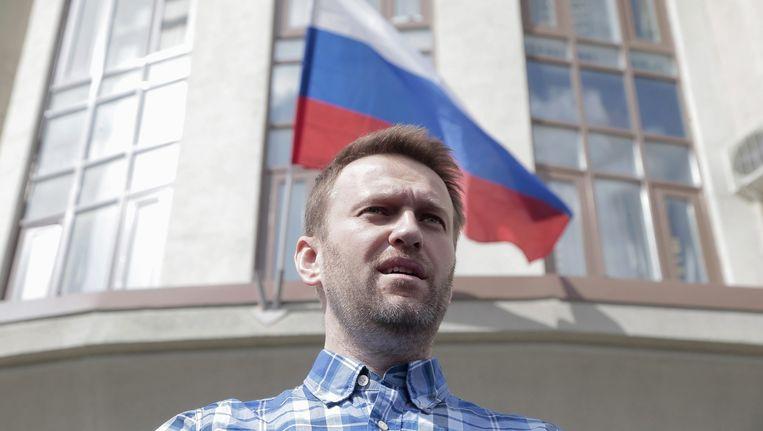 Poetin-criticus Aleksej Navalny. Beeld null