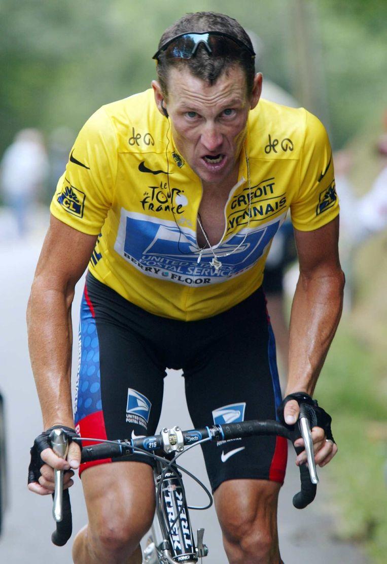 Lance Armstrong in de Tour de France van 2003.